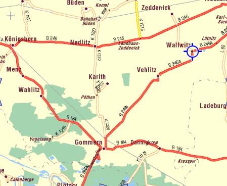 Der Röhlsche Hof - Erlebnisbauernhof in Wallwitz Sachsen-Anhalt - Karte