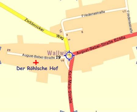 Der Röhlsche Hof - Erlebnisbauernhof in Wallwitz Sachsen-Anhalt - Anfahrt