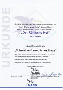 Der Röhlsche Hof - Erlebnisbauernhof in Wallwitz Sachsen-Anhalt - Zertifikat 2